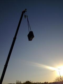Early morning crane lift