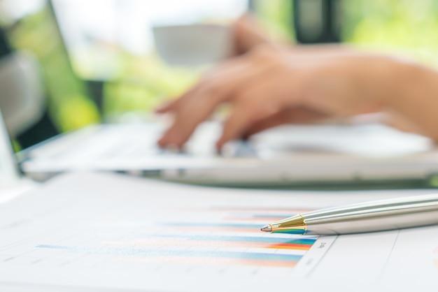 Earnings laptop accounting stock monitoring