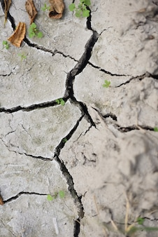 Earth cracking due to drought from atmospheric environmental change