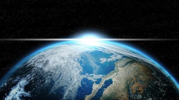 Earth in deep space in galaxy