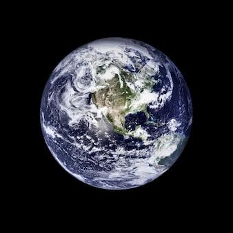 白い表面に分離された地球儀。 nasaから提供されたこの画像の要素