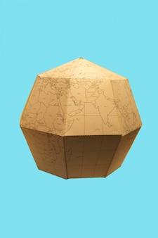 Earth globe polygonal planet paper