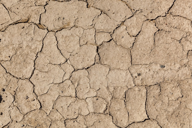 Earth ground crack with dust and rough dry surface texture drought land lack of water climate