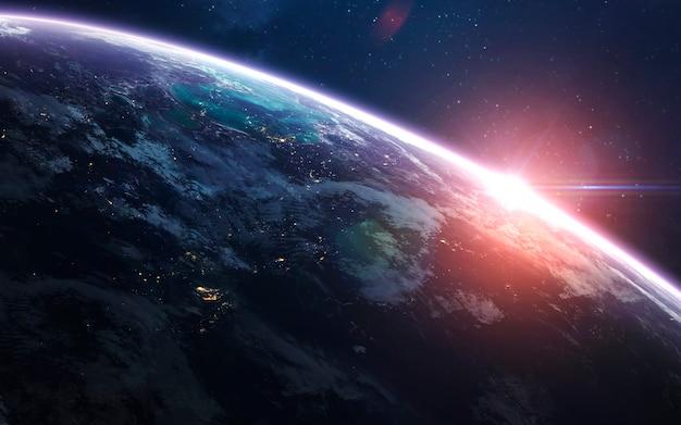 우주에서 지구