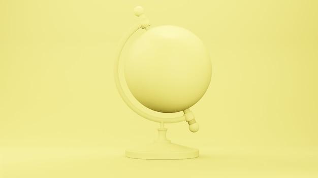지구 모델 글로브 모델, 3d 렌더링