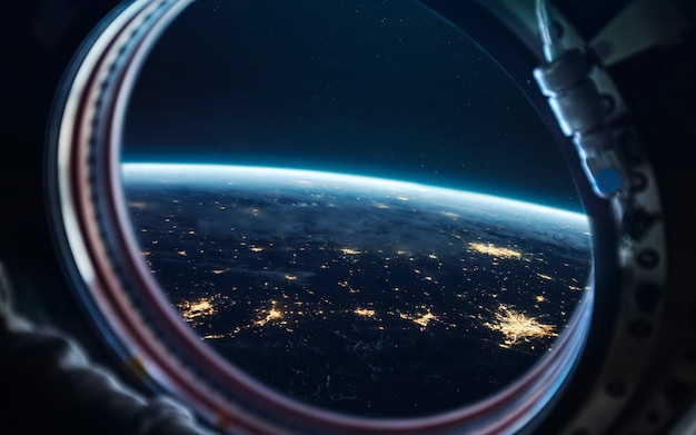 Earth at night, city lights from orbit. elements of this image furnished by nasa