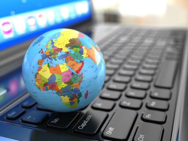 Земля на клавиатуре ноутбука 3d карта была создана мной