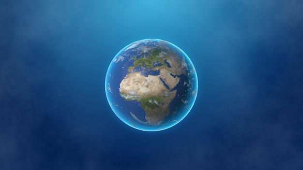 Планета земля, изолированные на дымчатом фоне