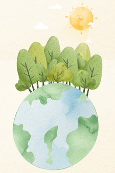 지구 심기 숲 디자인 요소