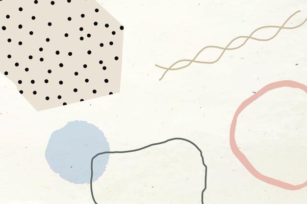 Мемфис тон земли на абстрактном фоне