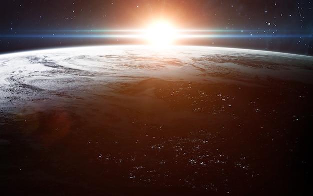 우주에서 지구보기