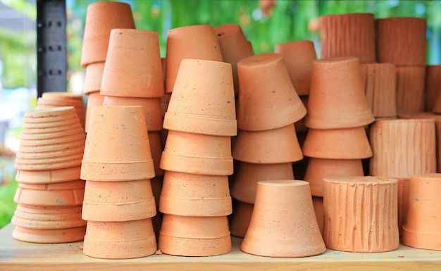 Earthenware clay. flower pot for plant (terracotta).