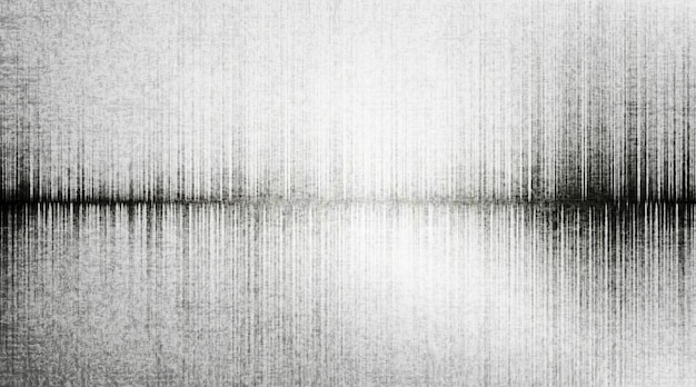 Earthquake wave on gray paper background