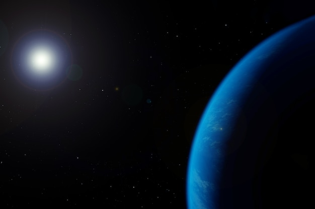 Earths atmosphere from space on a dark background elements of this image were furnished by nasa