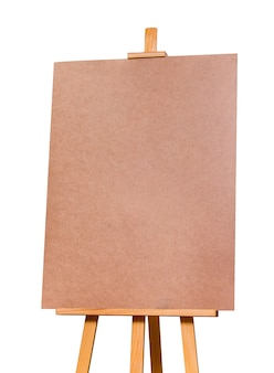 Easel on a white isolated background. mock-up. preparation for design