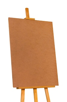 Easel on a white isolated background. preparation for design