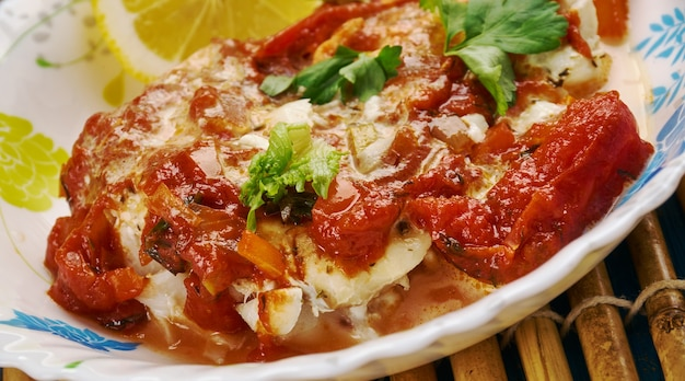 East african fish in coconut curry, zanzibar cuisine