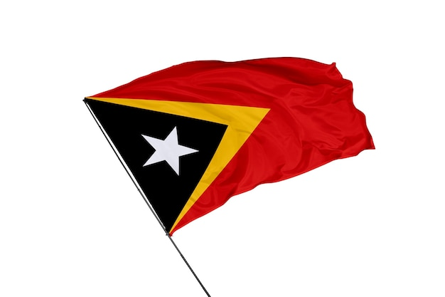 背景の東ティモールの旗