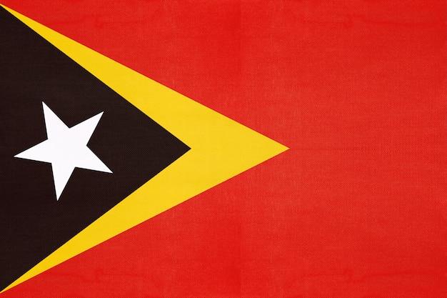 East timor national fabric flag