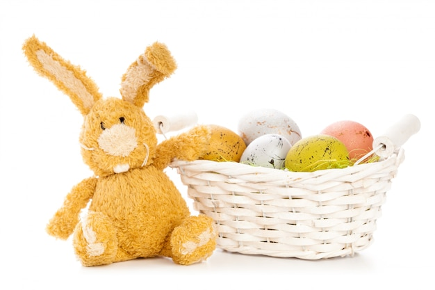 Easter background. isolated on white