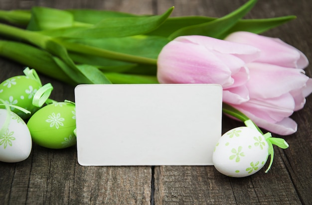 Easter blank note background