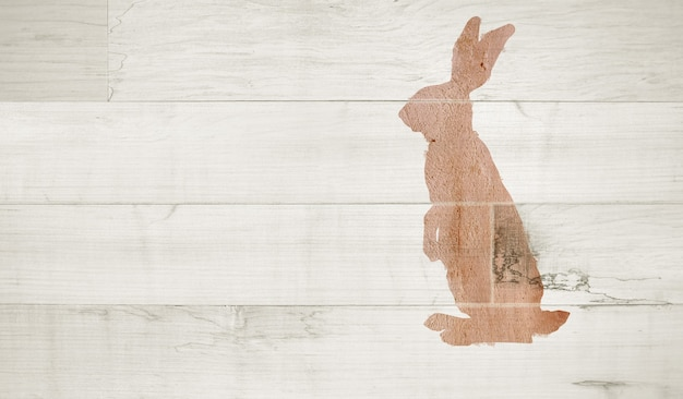 부활절 토끼 토끼. 부활절 프리미엄 사진