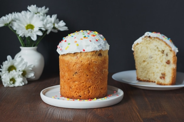 Easter cake  russian and ukrainian traditional kulich paska easter bread