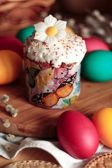 イースターケーキと卵