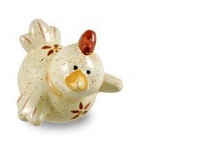 Easter chicken, statue