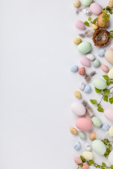 Easter composition on white