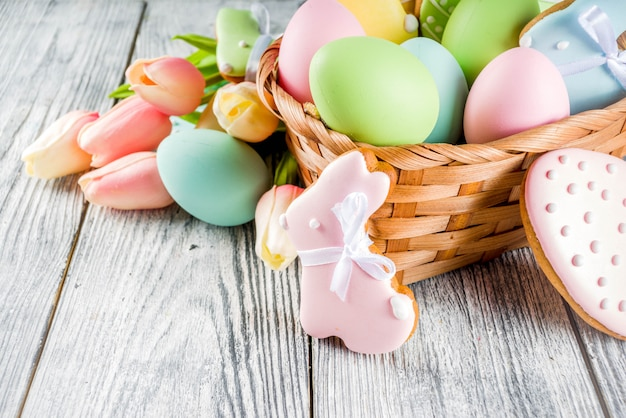 Easter cookies background