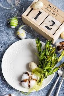 Easter decoration concept