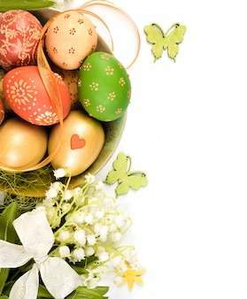 Easter decorations, ornate page border