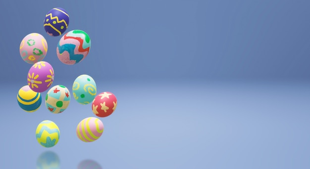 Easter egg  3d rendering for holiday content.