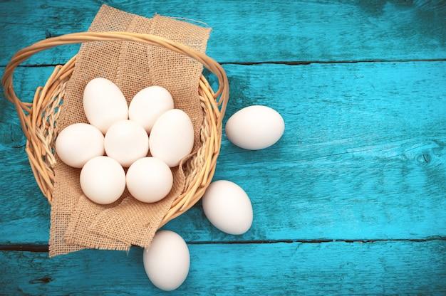 Easter egg lying in a basket