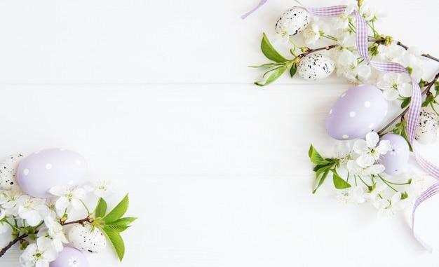 イースターエッグと春の桜