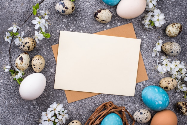 Easter eggs and empty card