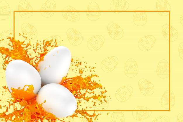 Easter greeting card 3d illustration