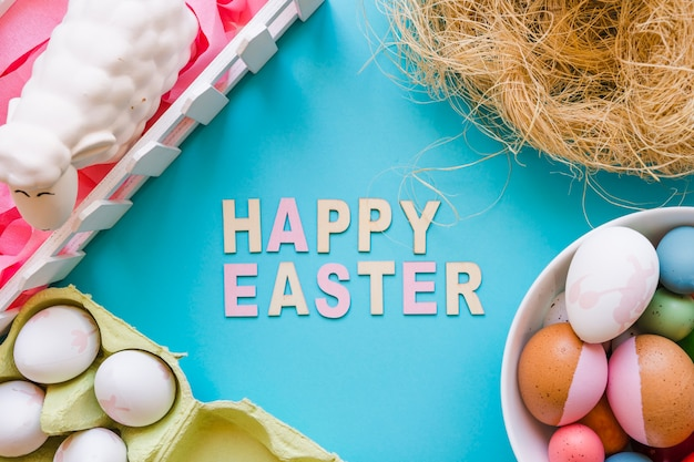 Easter greeting and decorations
