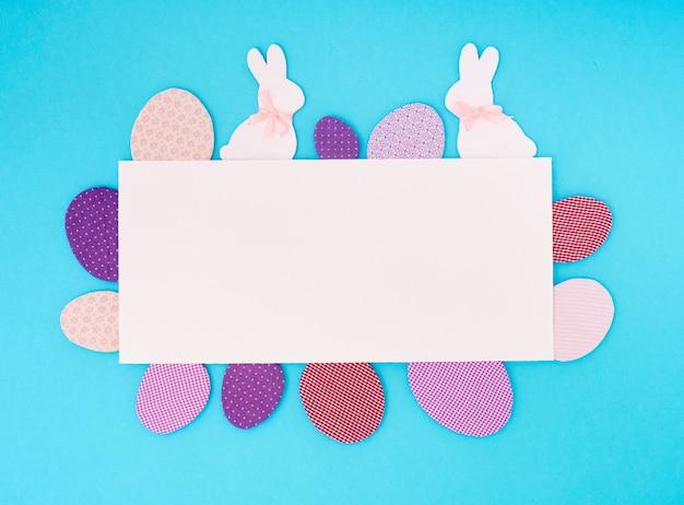 Пасхальное поздравительное бумажное украшение