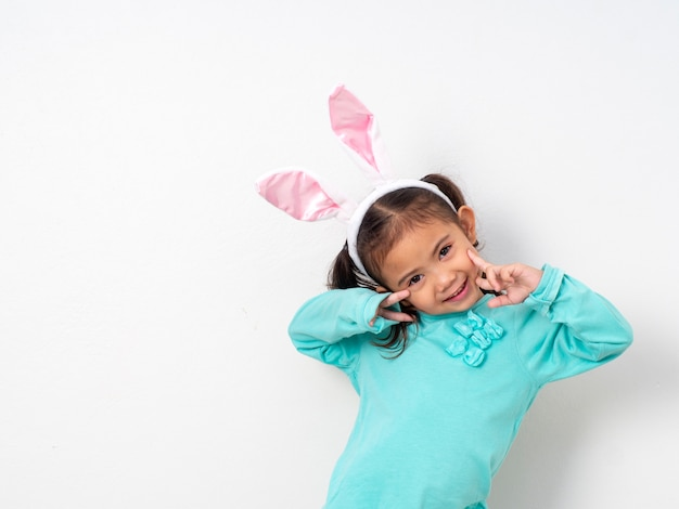 Easter holiday fo happy little girl