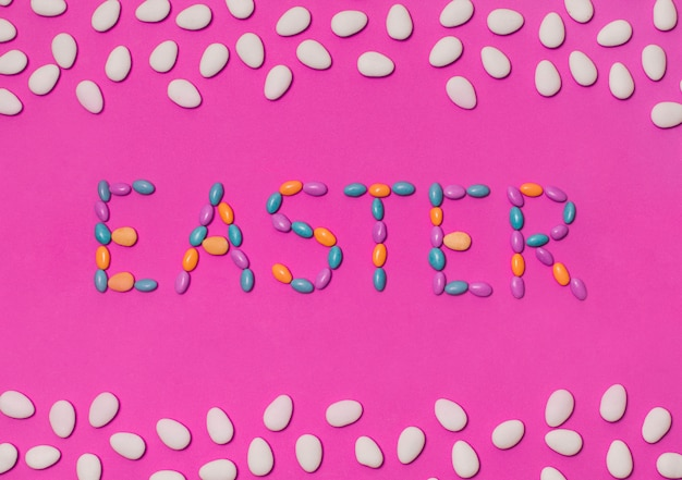 Easter inscription between beans