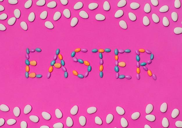 Easter inscription between beans