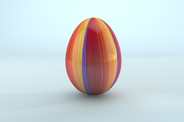 Easter paint a colorful easter egg on blue background. 3d render a file psd transparent background