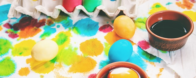 Easter photo. happy easter. eggs