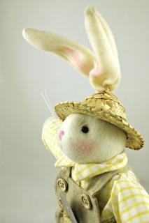 Easter rabbit sideways