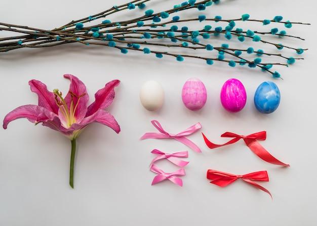 Easter set of colorful attributes