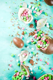 Easter sweets background