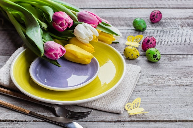 Easter table setting d