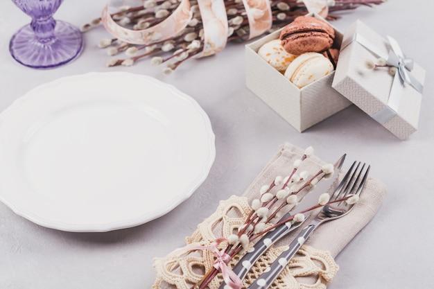 부활절 테이블 설정